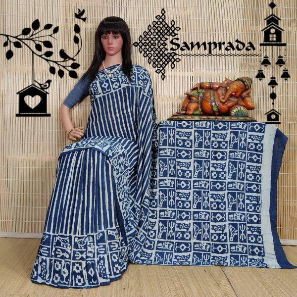 Nilaya - Mulmul Cotton Saree