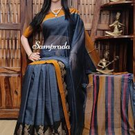 Naadavalli - Mercerized Pearl Cotton Saree