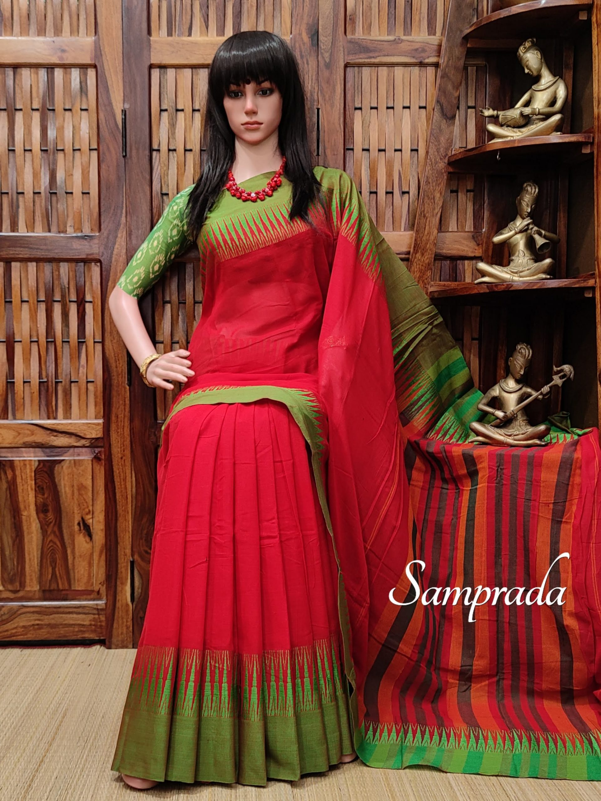 Navamalli - Mercerized Pearl Cotton Saree