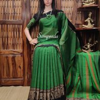 Neeladevi - Mercerized Pearl Cotton Saree