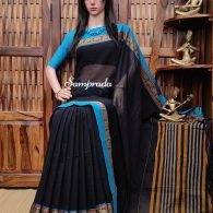 Neeluu - Mercerized Pearl Cotton Saree
