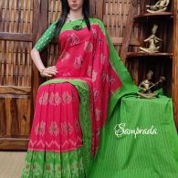 Paarvithritha - Ikkat Cotton Saree