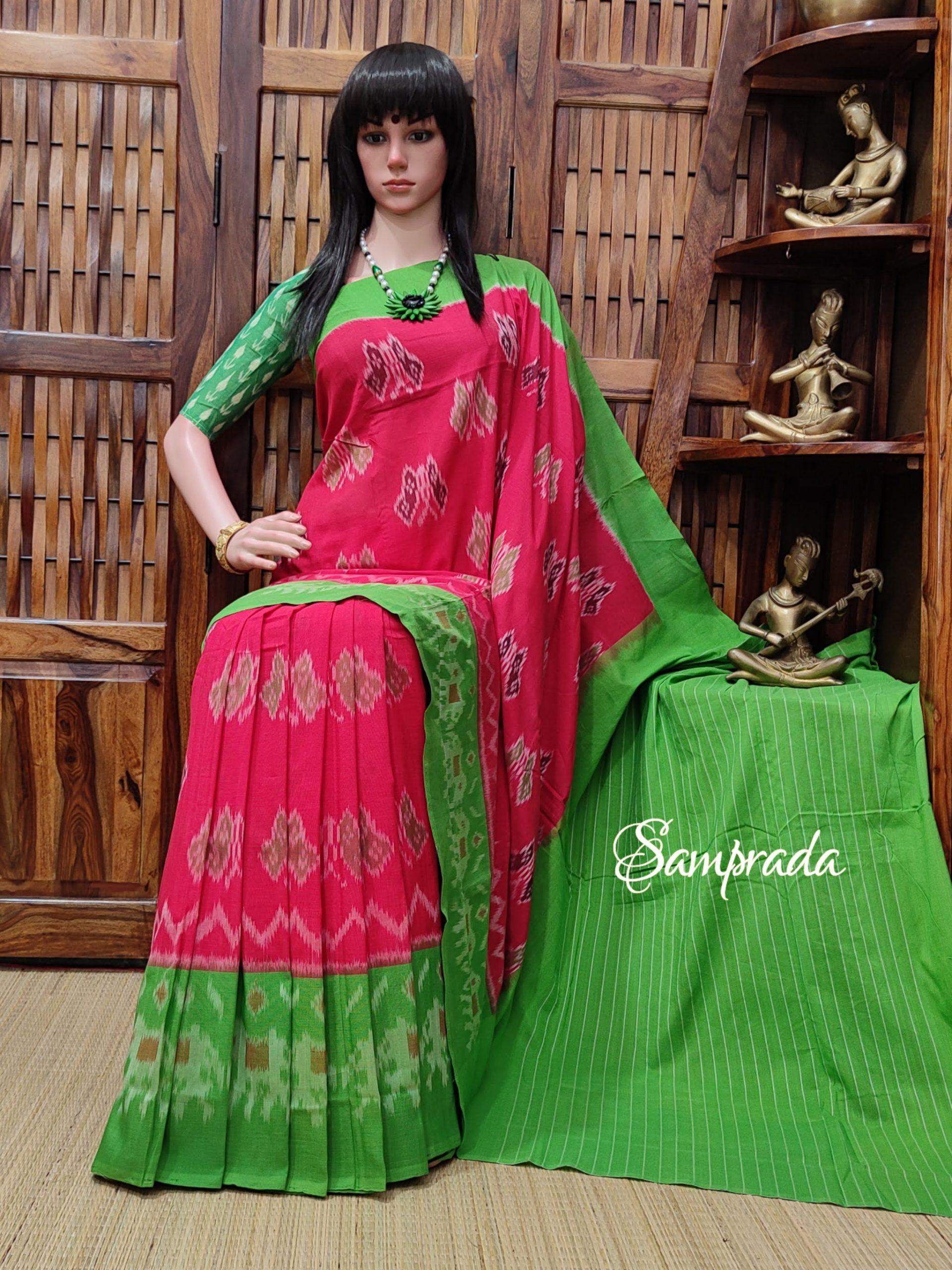 Paarvithritha - Ikkat Cotton Saree