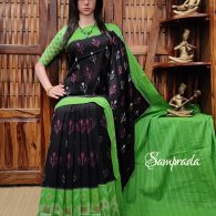 Pampaa - Ikkat Cotton Saree