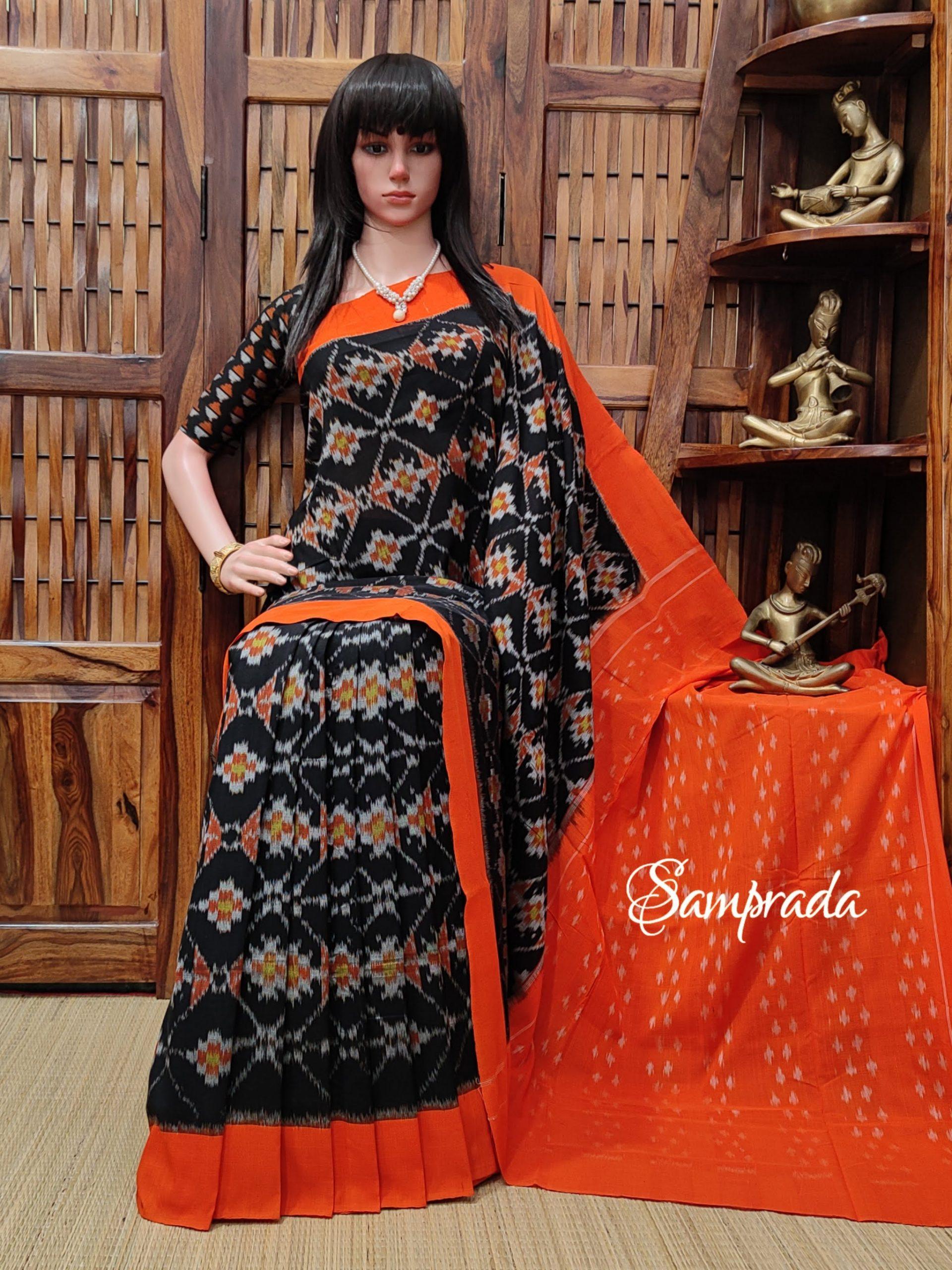 Parnavi - Ikkat Cotton Saree