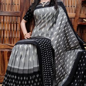 Pashans - Ikkat Cotton Saree