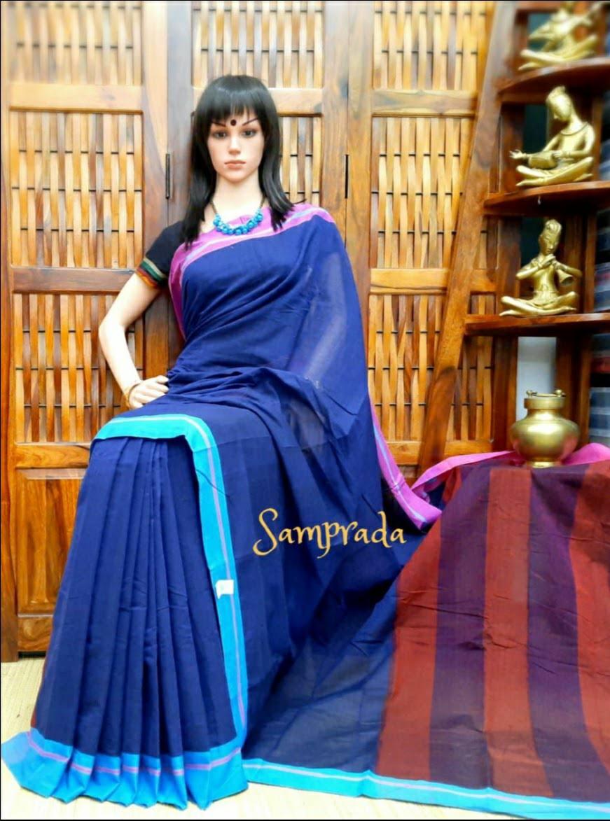 Punyapriya - Patteda Cotton Saree