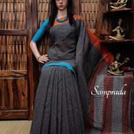 Pushpangata - Patteda Cotton Saree