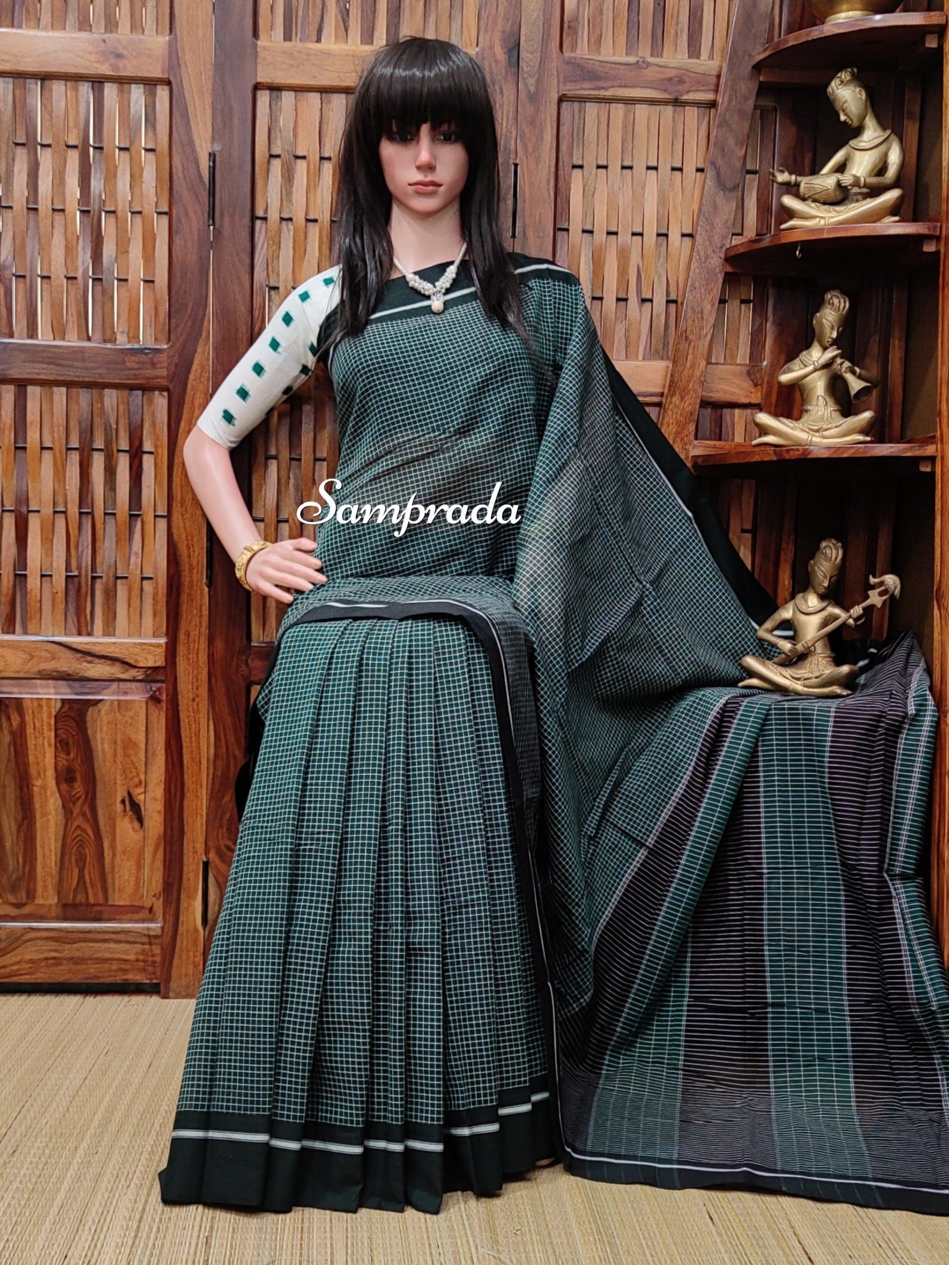 Rajanigandha - Patteda Cotton Saree