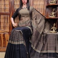 AMALAA – PEARL COTTON SAREE