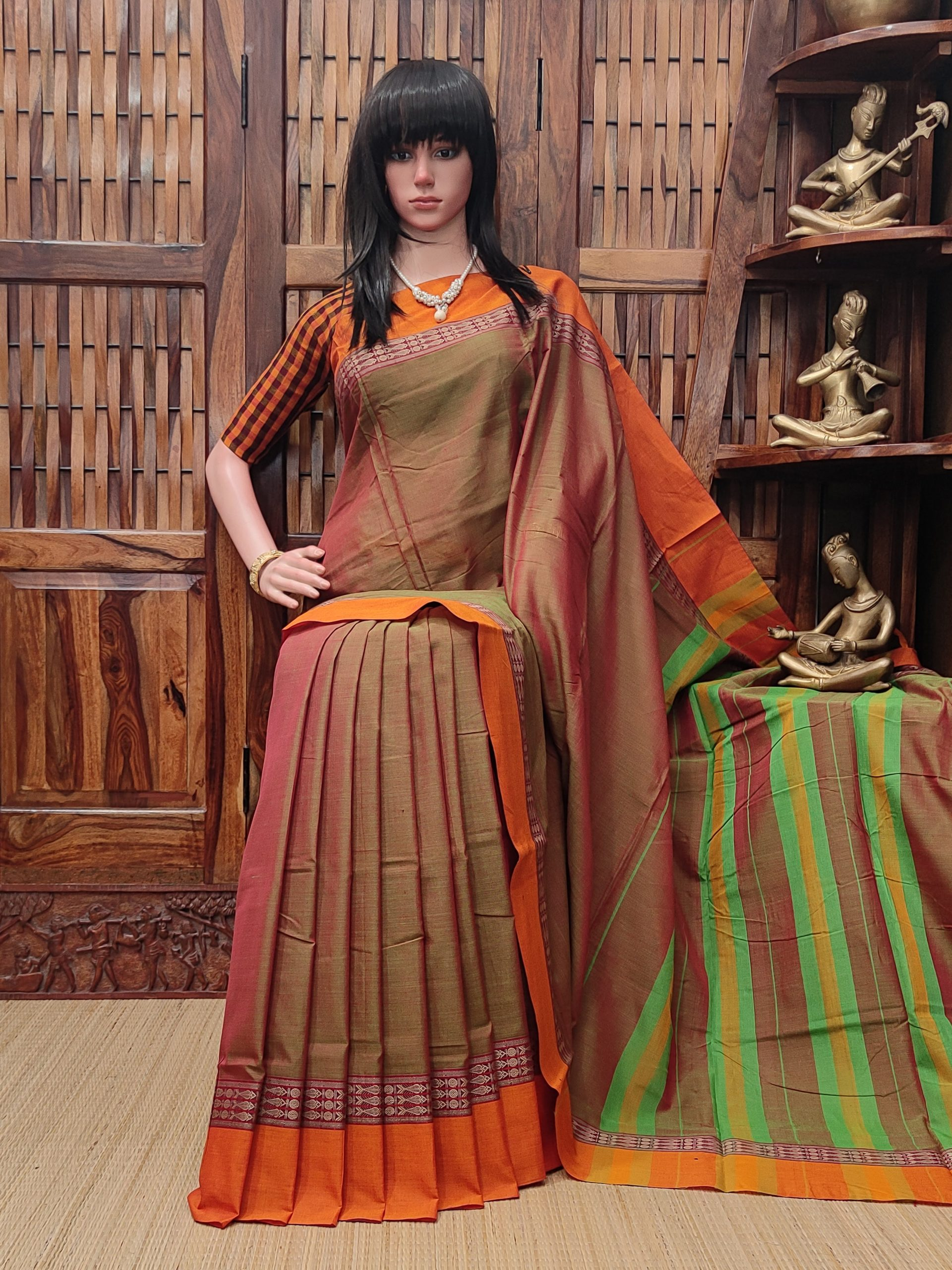 Devakanya - Pearl Cotton Saree