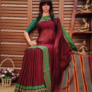 Dhavalambari - Pearl Cotton Saree