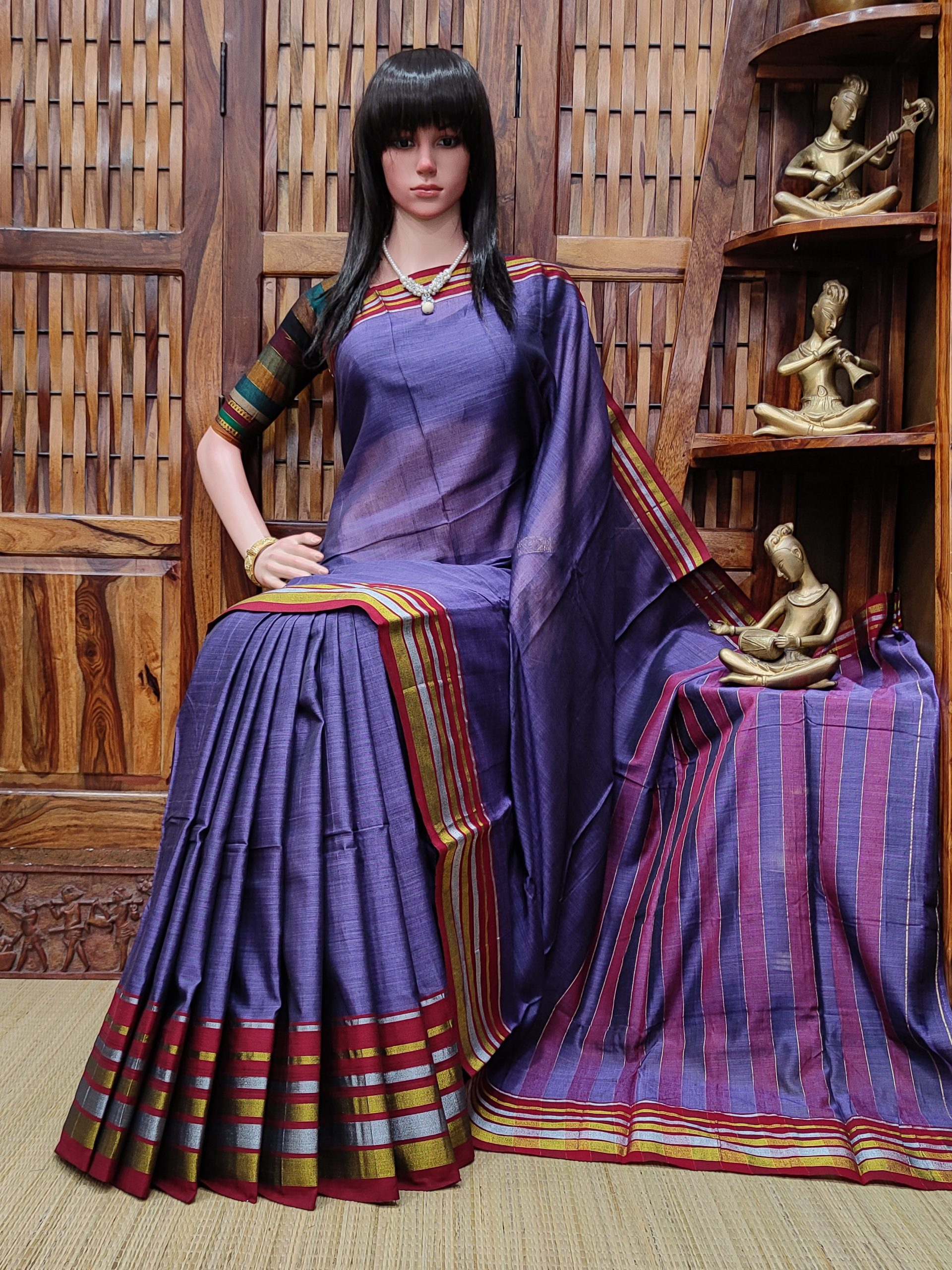 Kishanganga - Pearl Cotton Saree