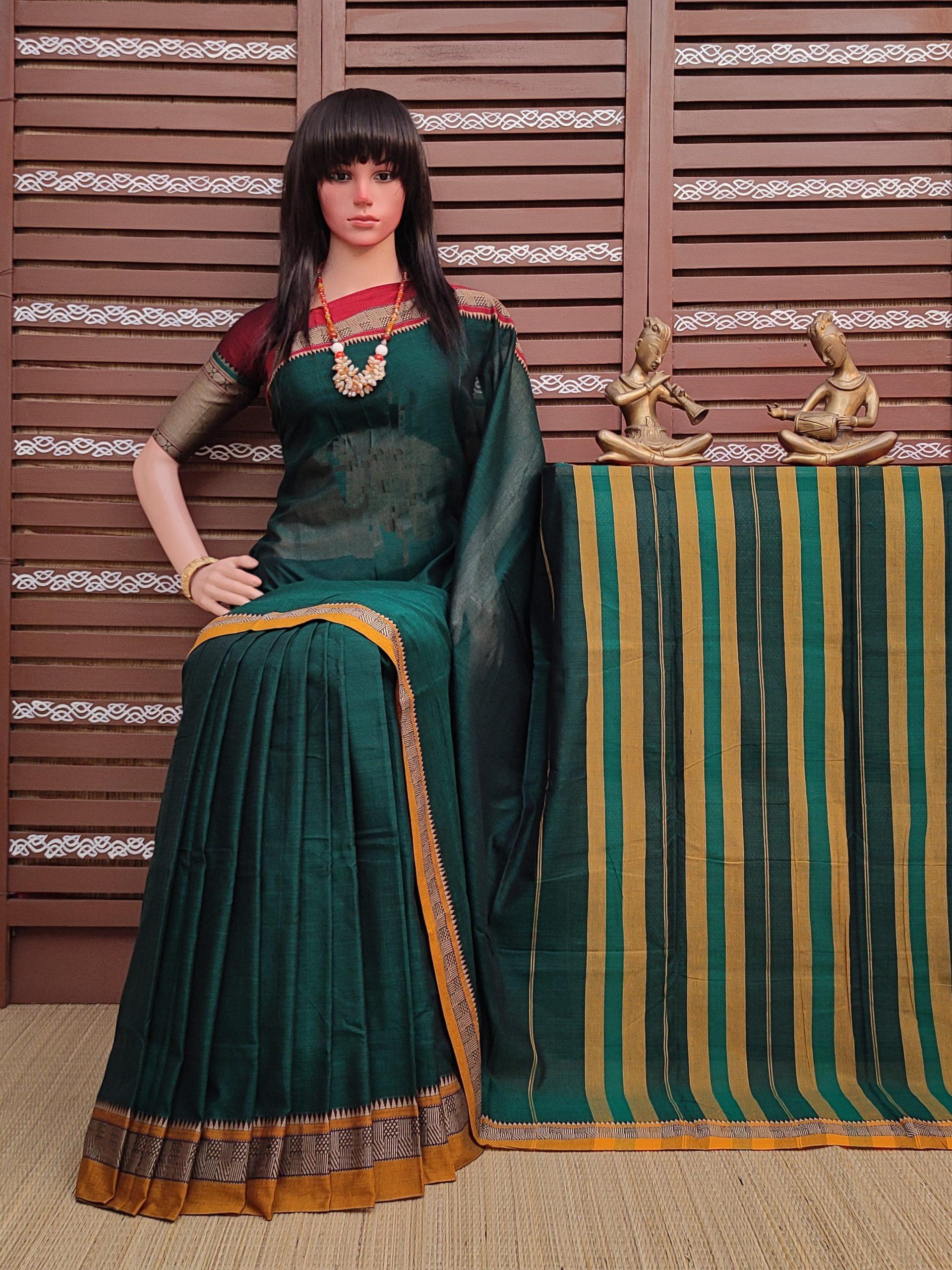 Kruthika - Pearl Cotton Saree