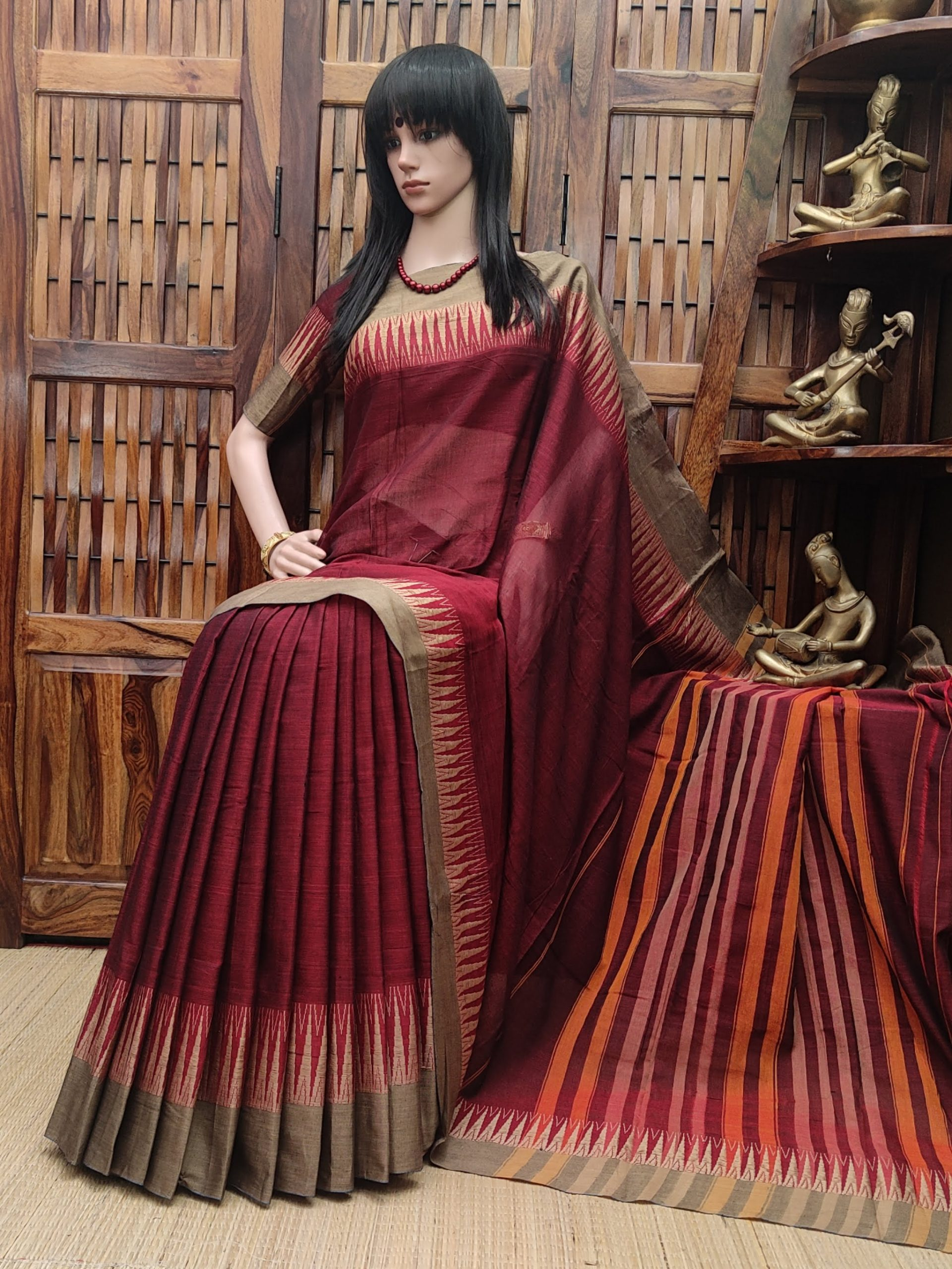 Kumkum - Pearl Cotton Saree