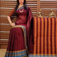 Rukhmambari - Pearl Cotton Saree