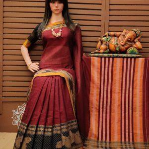 Tarpani - Pearl Cotton Saree