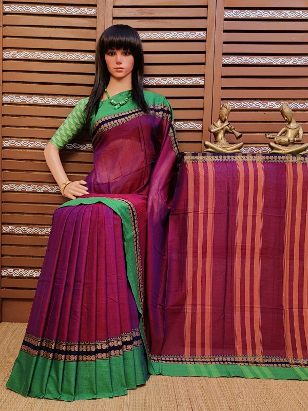 Tarshita - Pearl Cotton Saree
