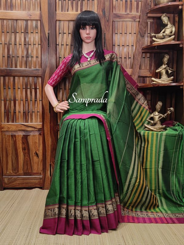 Trisha - Pearl Cotton Saree