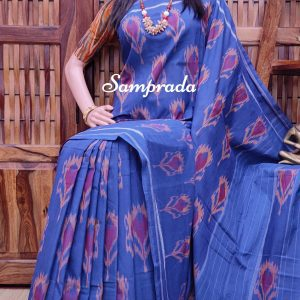 Phalya - Ikkat Cotton Saree