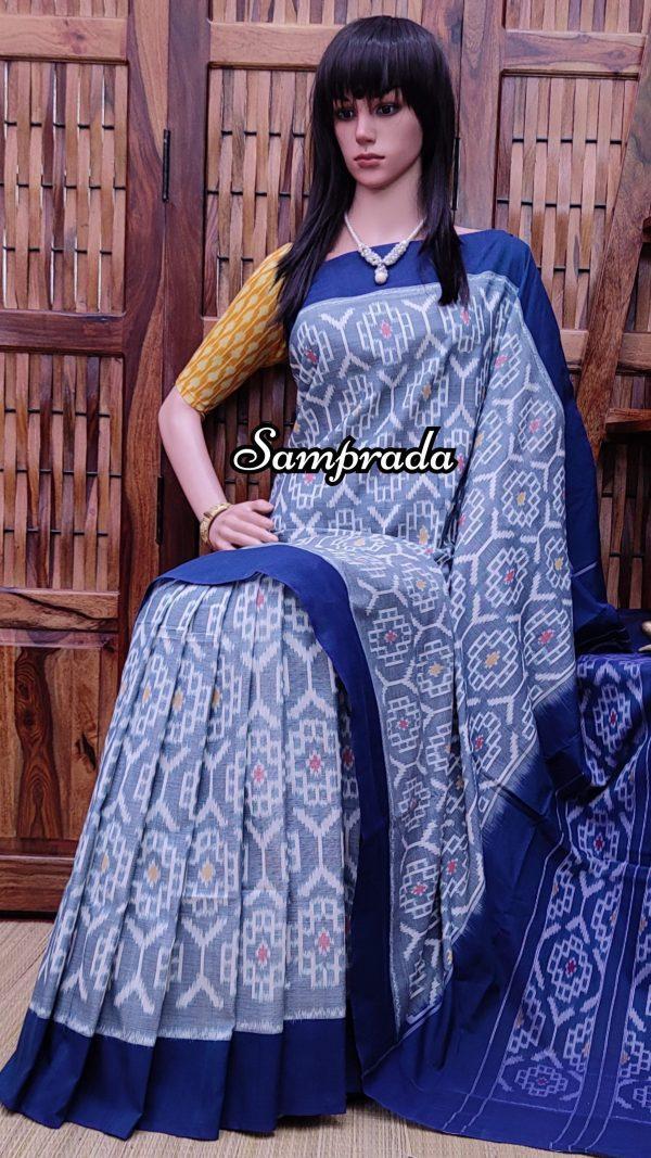 Poonam - Ikkat Cotton Saree