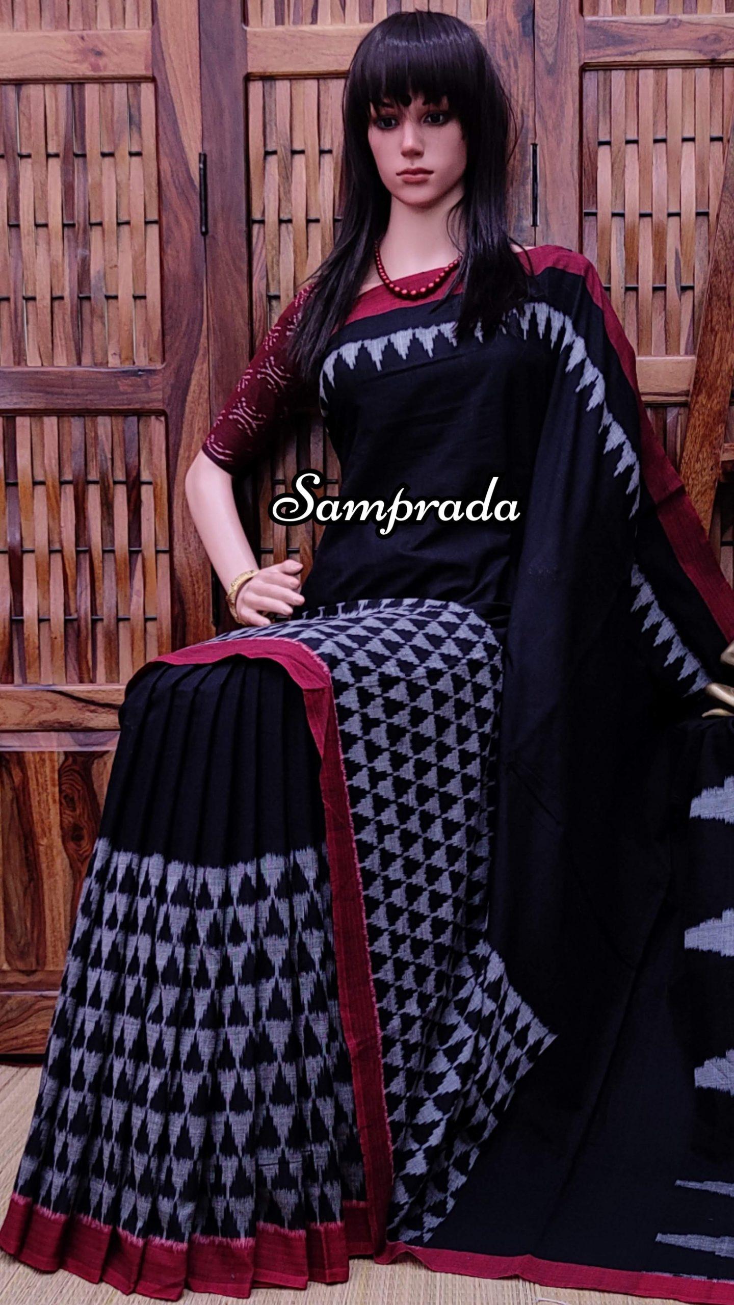 Poorvaja - Ikkat Cotton Saree