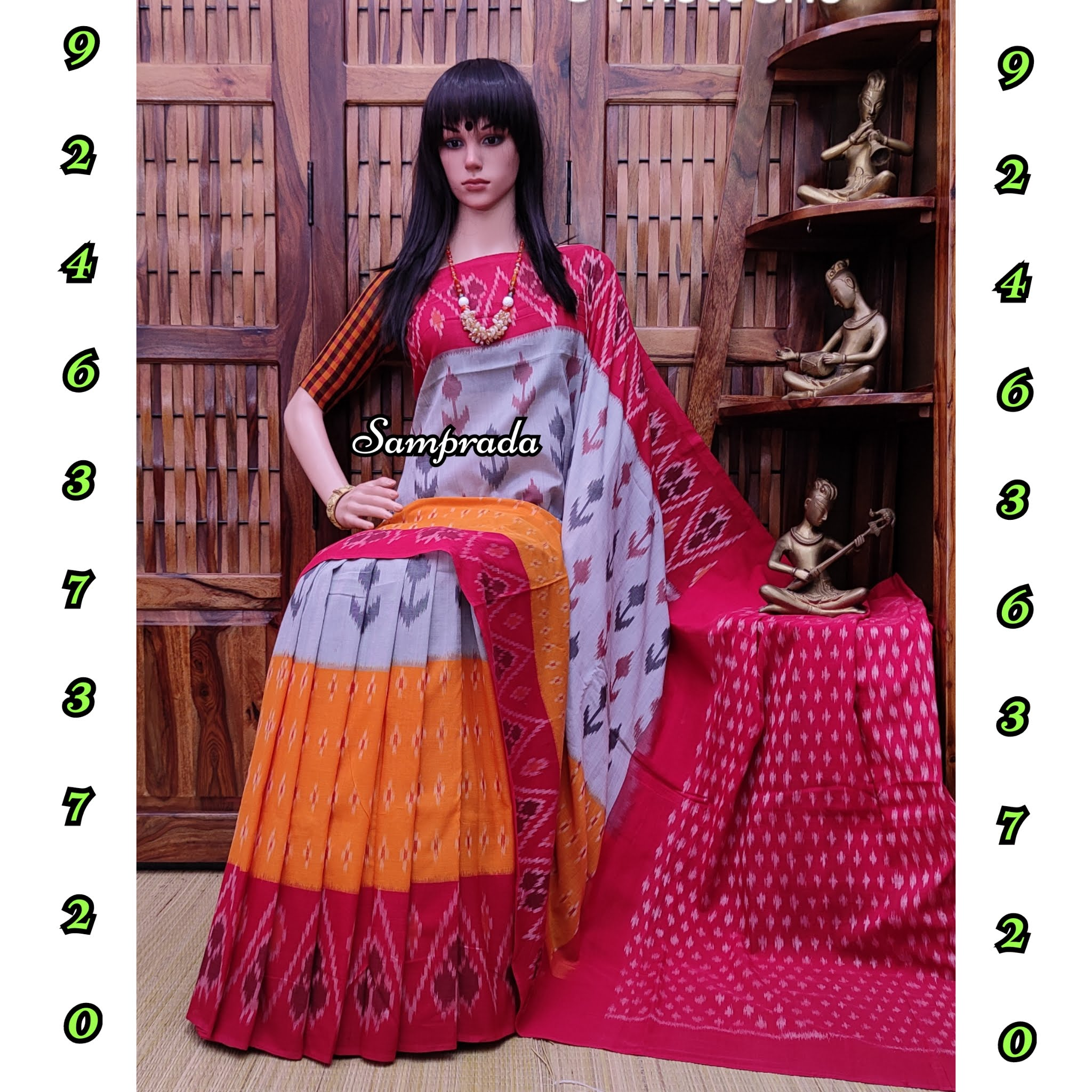 Pradyuta - Ikkat Cotton Saree