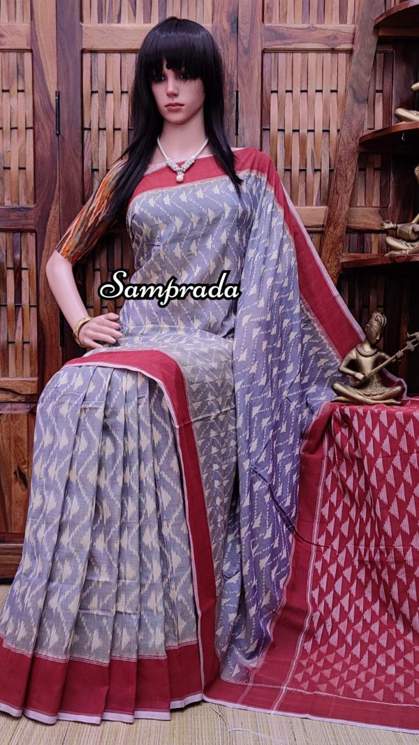 Prajeetha - Ikkat Cotton Saree