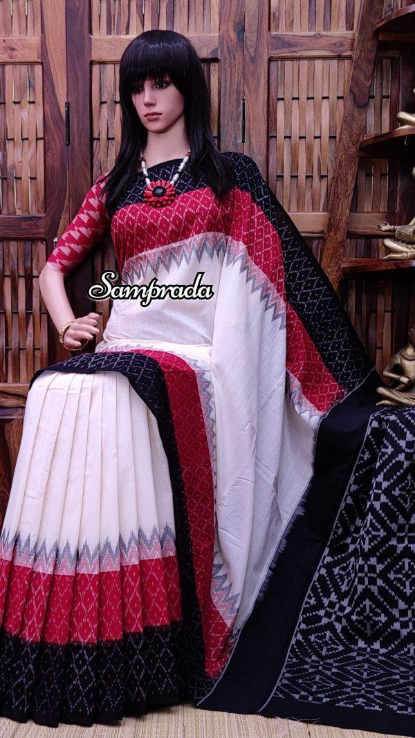 Pramik - Ikkat Cotton Saree