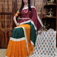 Prashasti - Ikkat Cotton Saree