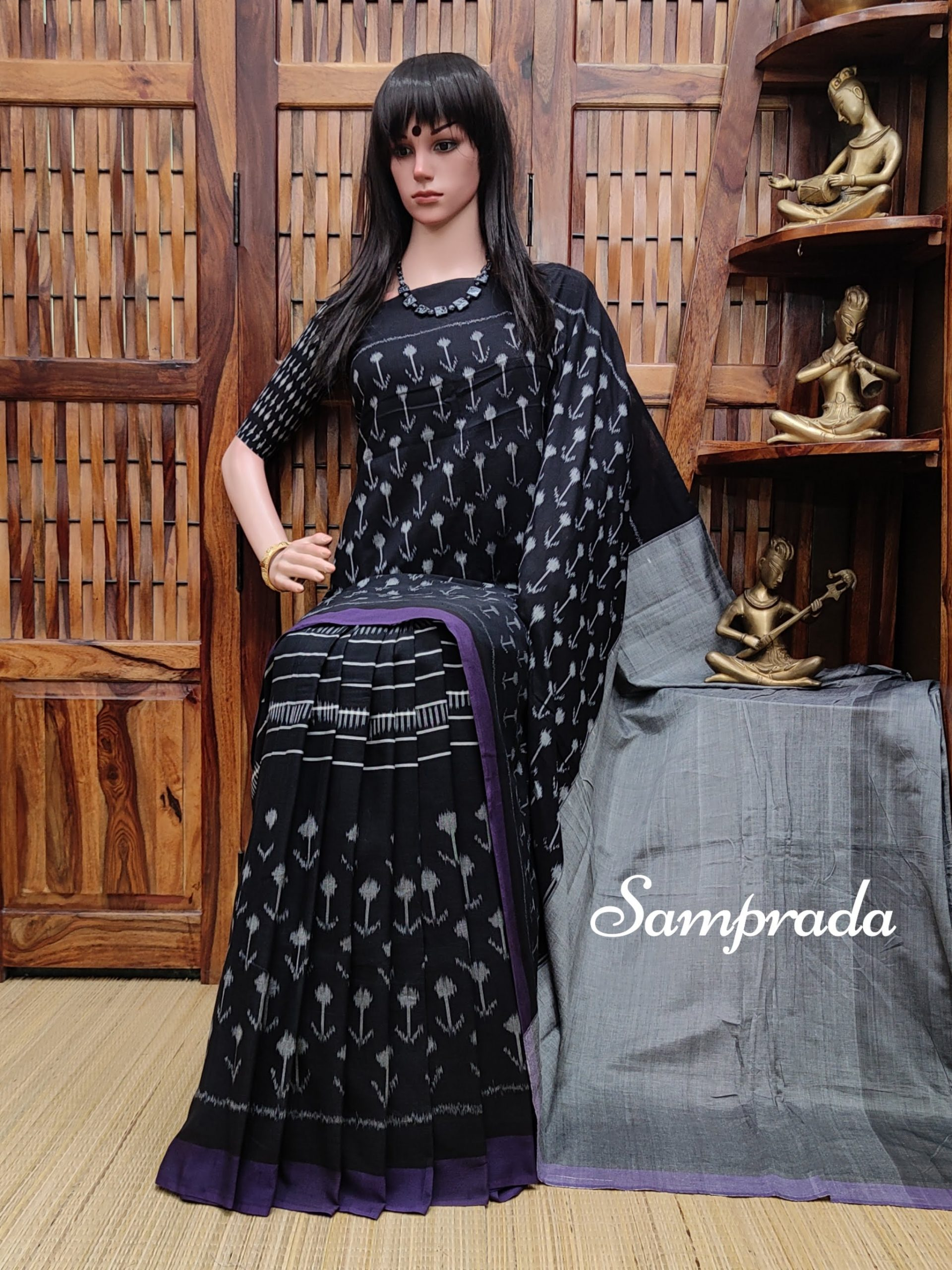 Prathitha - Ikkat Cotton Saree