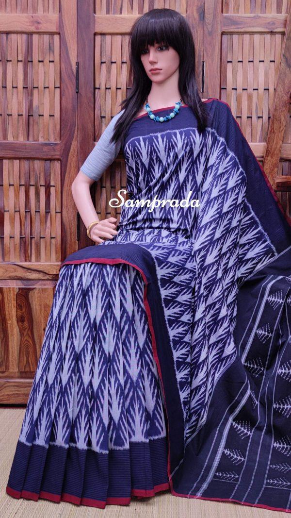 Pravaaha - Ikkat Cotton Saree