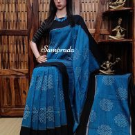 Pravara - Ikkat Cotton Saree