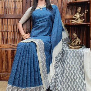 Prithi - Ikkat Cotton Saree