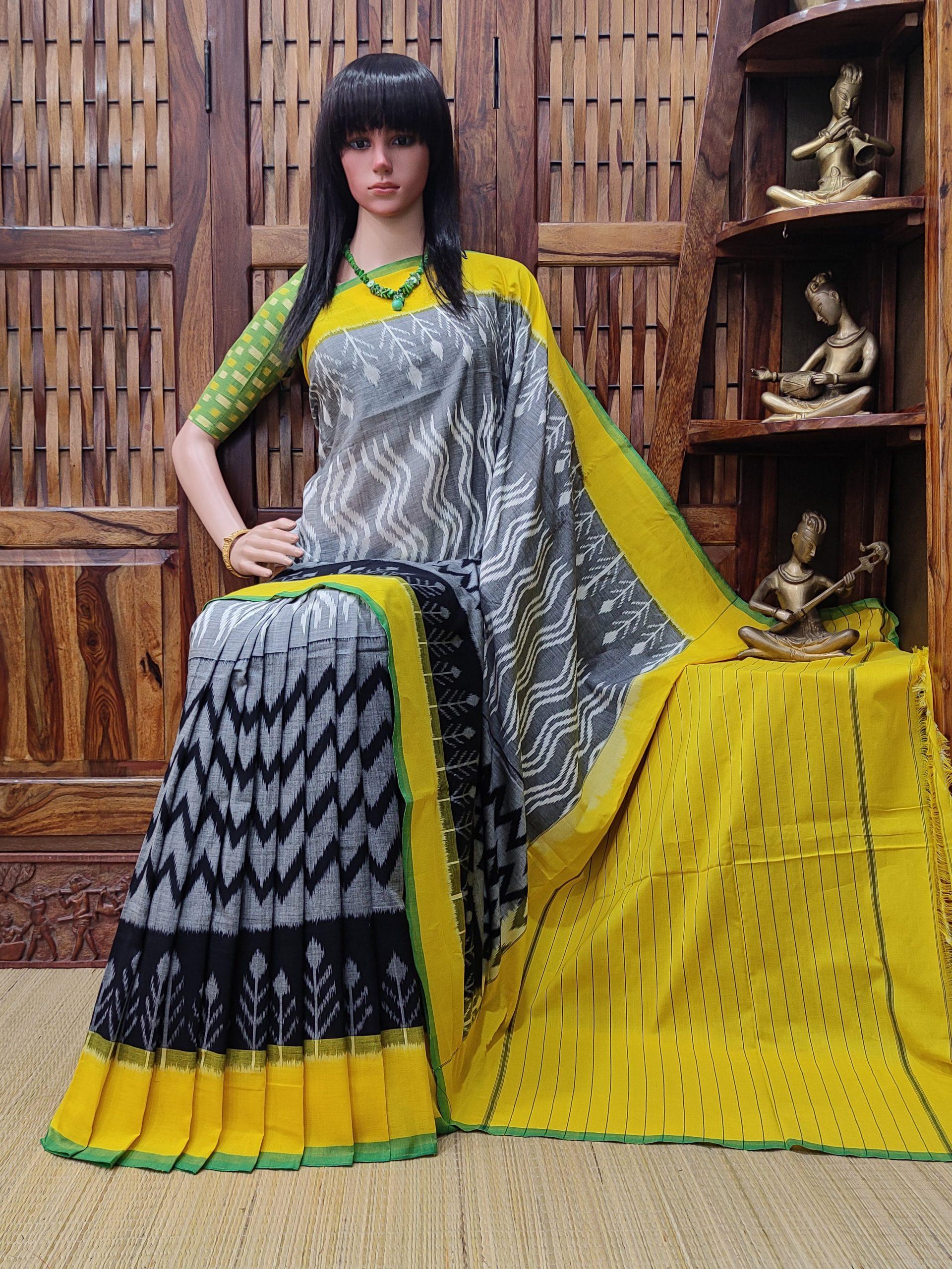 Priyamvada - Ikkat Cotton Saree