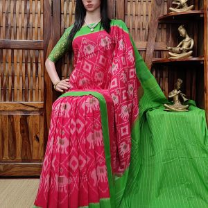 Priyani - Ikkat Cotton Saree