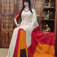 Punaila - Ikkat Cotton Saree