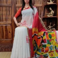 Vandya - West Bengal Painted Cotton Saree
