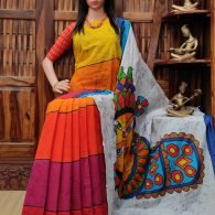 Vanshaja - West Bengal Painted Cotton Saree