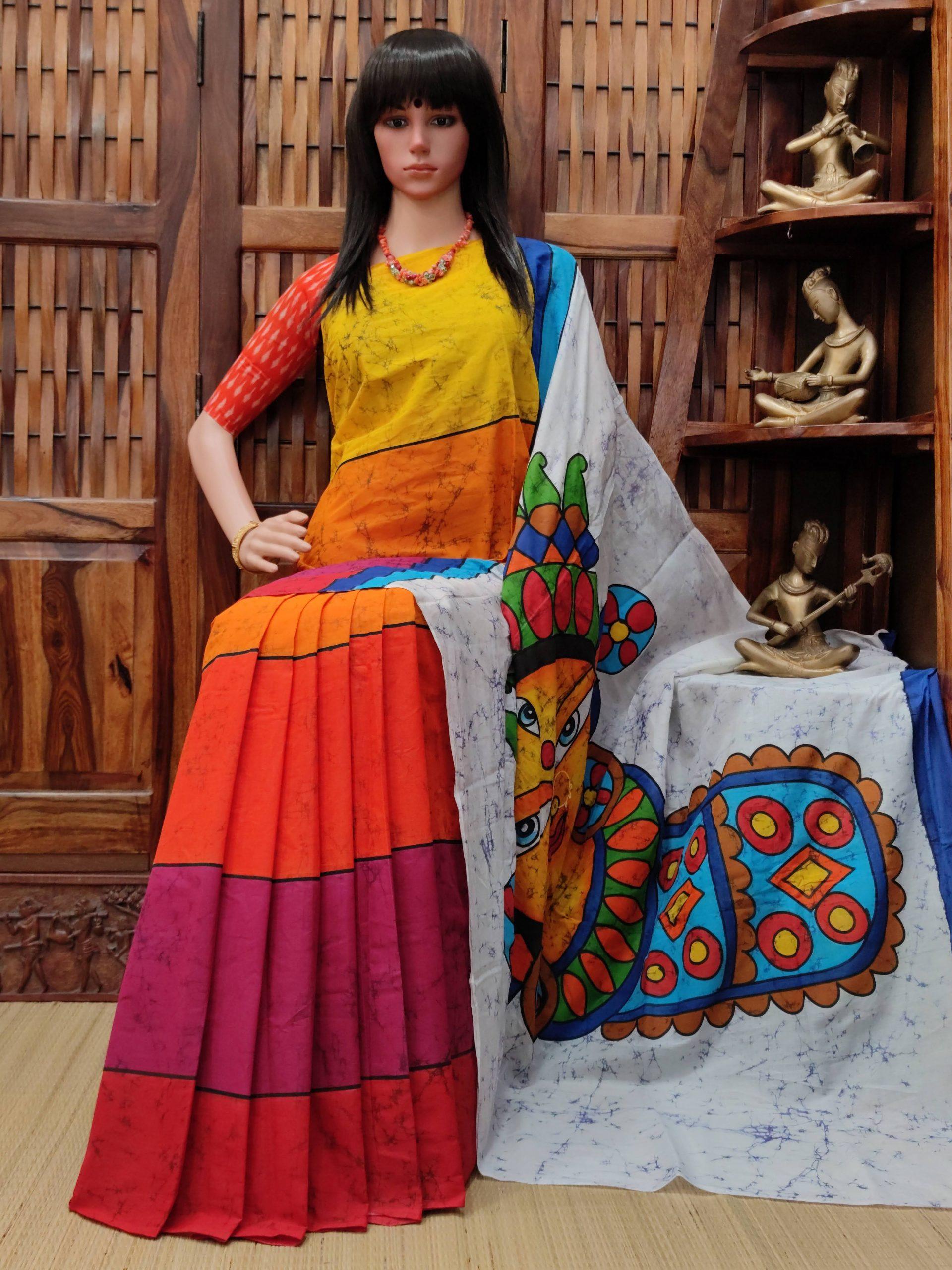Vanshaja - West Bengal Painted Cotton Saree