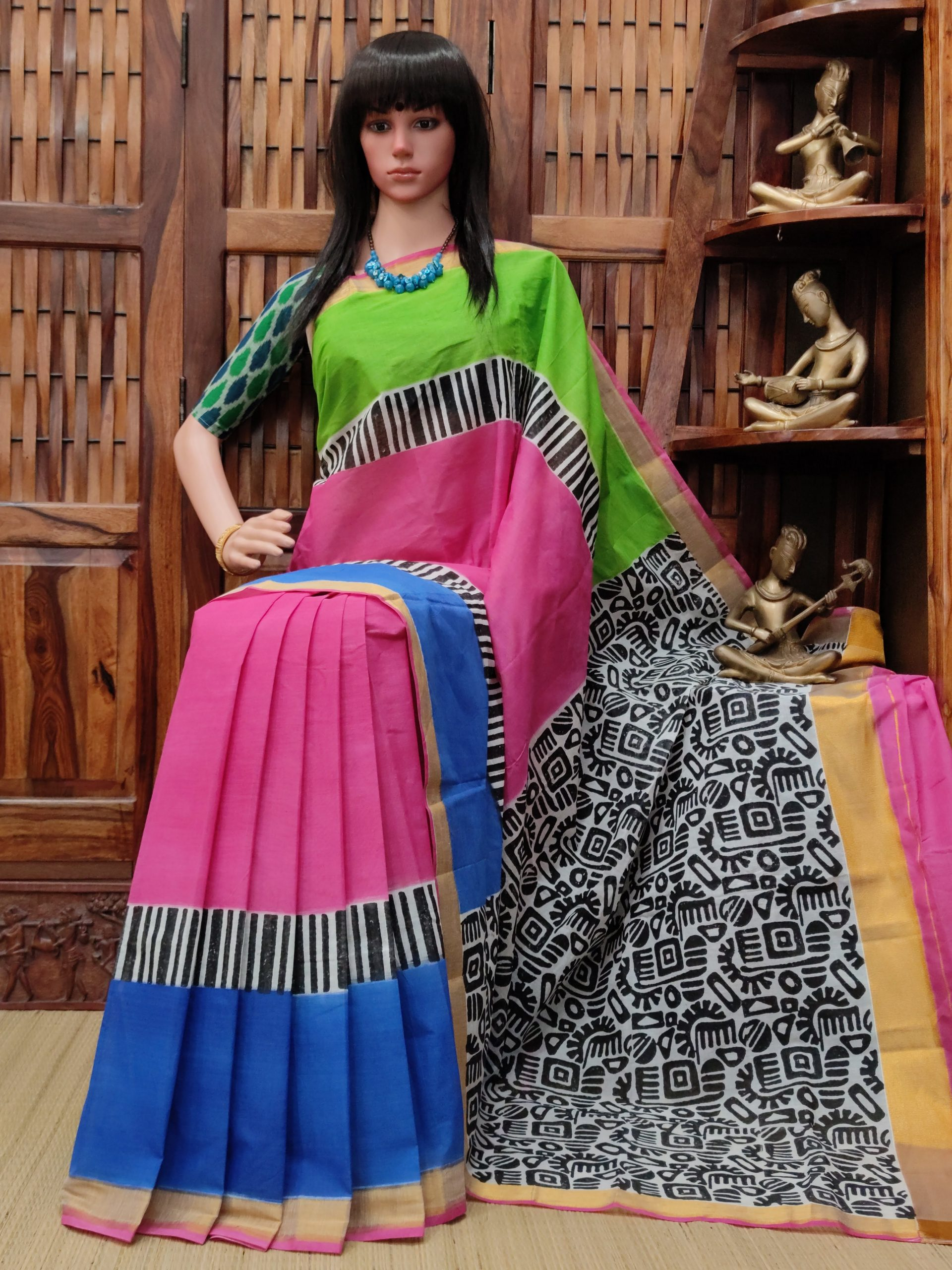Vanshika - West Bengal Painted Cotton Saree