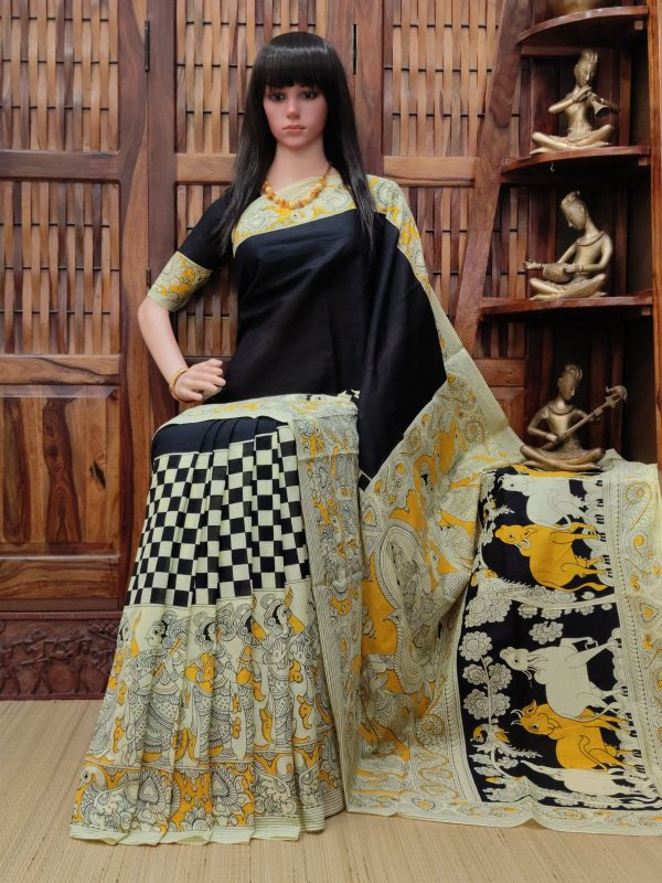 Varasya - West Bengal Painted Cotton Saree