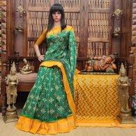 Anuradha - Ikkat Silk Saree