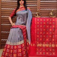 Astheya - Ikkat Silk Saree