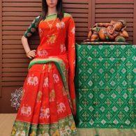 Avhnipaala - Ikkat Silk Saree