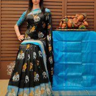 Gunjan - Ikkat Silk Saree