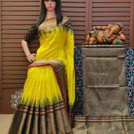 Shravya - Ikkat Silk Saree