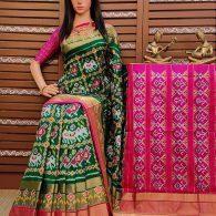 Simran - Ikkat Silk Saree