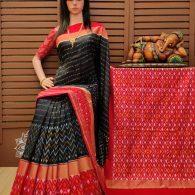 Soundhiya - Ikkat Silk Saree