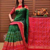 Sphuritha - Ikkat Silk Saree